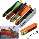 Outdoor Key Holder Organizer Clip Folder EDC Aluminum Keychain Keyring Gear