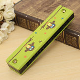 Wooden 16 Hole Harmonica Kids Musical Instrument Mouth Organ Educational Toy