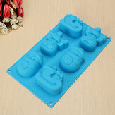 3D Christmas Snowman Reindeer Soap Cake Chocolate Cookie Silicone Mold Pan Decor