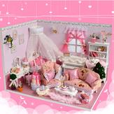 Cuteroom 1:32Dollhouse Miniature Model Kit with Clear Cover & Light&Music Princess Diary