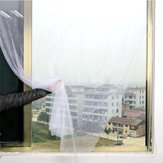 Honana White Curtain Insect Mosquito Self-adhesive Door Window Nylon Mesh Screen Net Sticky