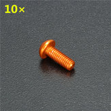 10Pcs Aluminum Alloy M3×6mm Hex Socket Screws Round Head Cap Screws Orange