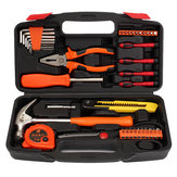 39 Pieces General Household Home Hand Tool Screwdriver Hammer Wrench Set Box with Hard Storage Case