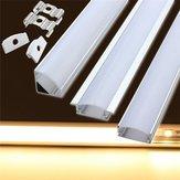 Support de canal 50cm en aluminium pour LED barre de lumière de bande sous la lampe du cabinet