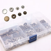 Original 50 Set Snap Fasteners Press Studs Kit  Poppers Buttons with Tool for Sewing Craft 15mm