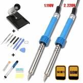 14 in1 US Plug 110V/220V 60W Electric Soldering Iron Starter Tool Kit Set Desolder Pump