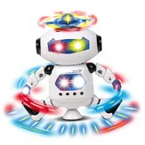 Electric Space Intelligent Robot Multicolor Shine Cool Dancing Robot Toy