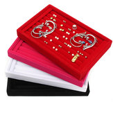 Velvet Earrings Ring Jewelry Display Organizer Tray Holder Show Case