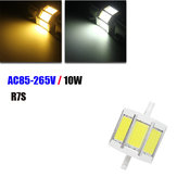Dimmable R7S 78MM 10W COB SMD White/Warm white LED Floodlight Spot Corn light Lamp Bulb AC 85-265V