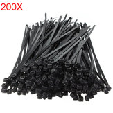 200Pcs 12 Inch Wire Cable Zip Ties Nylon Wrap 50 LBS Tensile Strap