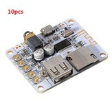 10pcs Bluetooth Audio Receiver Digital Amplifier Board With USB Port TF Card Slot Decoding Play