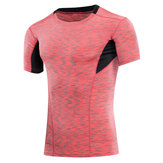 Mens Sports Gym Fitness T-shirt Training Running Tight T-shirt Elastic Quick Dry Tops Tees
