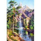 16x12 Inches 5D Diamond Painting Landscape Scenery Craft DIY Cross Stitch Home Decor