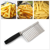 Stainless Steel Potato French Fries Wavy Cutter Peeler Knife