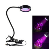 8W 110V USB Desktop Clip Adjustable 16 LED Plant Grow Light for Home Office Garden Greenhouse