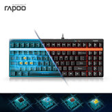 Rapoo V500 Black Blue Brown Yellow Switch 87Keys Mechanical Gaming Keyboard