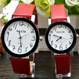 Wecin 1291 Casual PU Leather Band Analog Quartz Wrist Watch