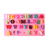 Alphabet Silicone Mold Capital Letter Punctuation Fondant Biscuit Cake Mould