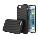 ROCK Carbon Fiber Series TPU PU Phone Case Protective Back Cover Protector Skin Shell For iPhone 7