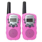 2pcs T-388 0.5W UHF Auto Multi-Channels Mini Radios Walkie Talkie Pink