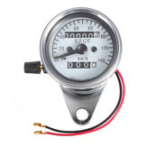 Motorcycle Universal Dual Odometer Night Light Speedometer Gauge