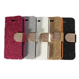 Bling Flip Magnetic Leather Stand Wallet Card Case For iPhone 5C