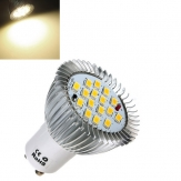 China Wholesale GU10 6.4W 16 SMD 5630 LED Warm White Energy Saving Spot Bulb 85-265V
