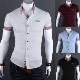 China Wholesale Mens Slim fit Short Sleeve Plaids Casual Dress Shirts