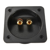 Square Recessed Speaker Junction Box With Gold Binding Posts
