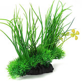 Aquarium Fish Tank Artificial Plastic Plant Green Grass Decoration