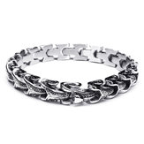 Punk Snake Shaped 316L Stainless Steel Bracelet Mens Jewelry