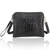 Women's Crocodile Pattern Clutch Bags PU Leather Shoulder Messenger Handbag