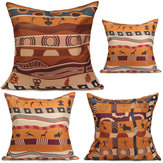 Vintage African Style Cotton Linen Throw Pillow Cases Office Sofa Cushion Cover