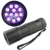 China Wholesale 12 LED BlackLight Ultra Violet UV Flashlight Torch Lamp