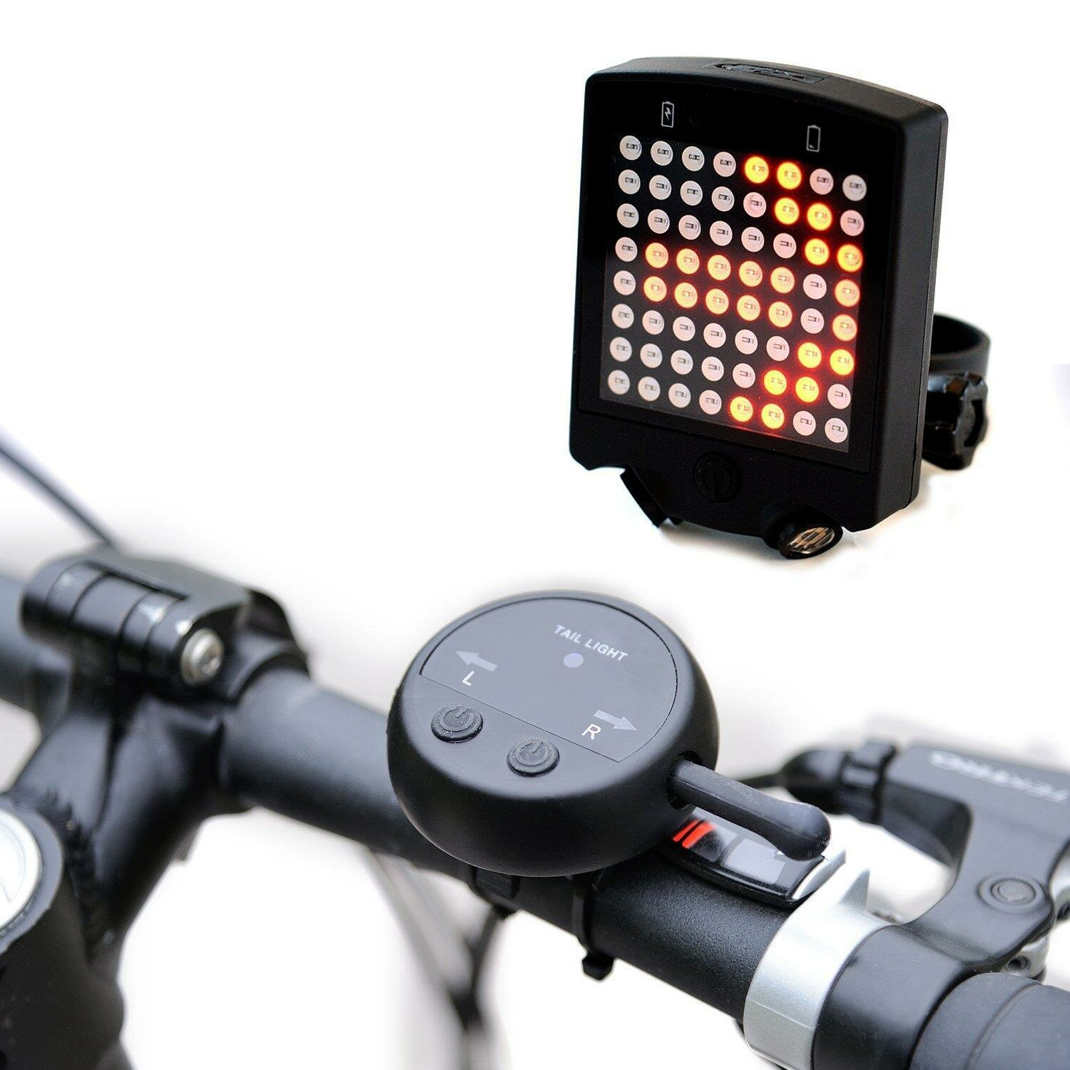 64 LED Wireless Remote Laser Bicycle Safety Warning Tail Light