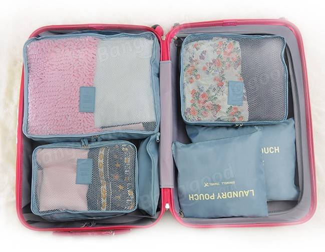 6Pcs Waterproof Travel Storage Bags Packing