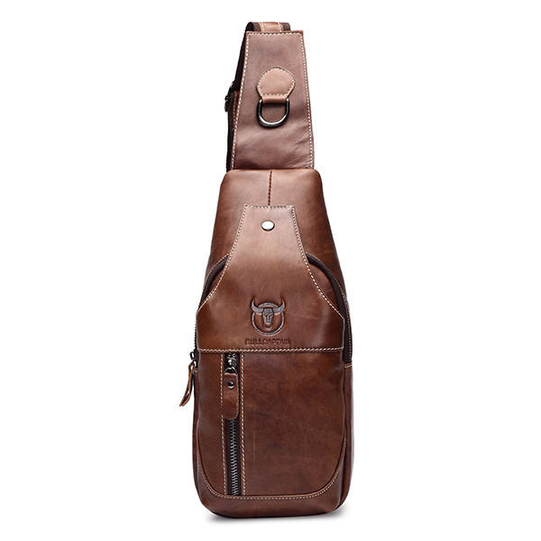 Men Genuine Leather Business Casual Brown