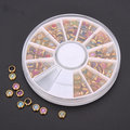 Wholesale Colorful Pearl Nail Art Decoration Round Wheel