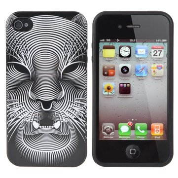 Mobile Shell Monster Head Pattern Cover Case For iPhone 4 4S