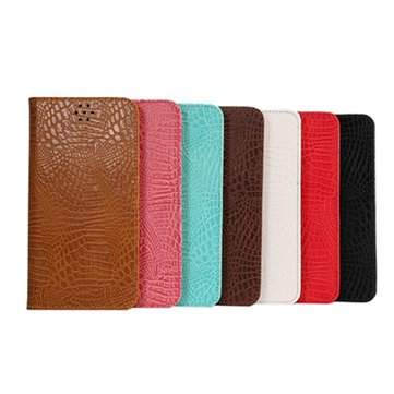 Crocodile Grain Magnet Flip Stand Leather Case For Samsung Galaxy Note 5