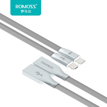 Original ROMOSS Rolink Hybrid 8pin and Micro USB Cable For iPhone iPad Samsung Xiaomi Huawei Moto LG