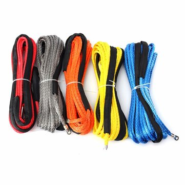 6mmX12m Synthetic Winch Line Cable Rope For Car 4X4 Offroad ATV UTV
