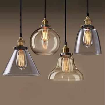 Industrielle pendentif en verre créatif restaurant grenier lumière ...