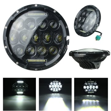 7inch Motorcycle Projector Daymaker DRL Headlight Hi/Lo LED For Harley Jeep Wrangler