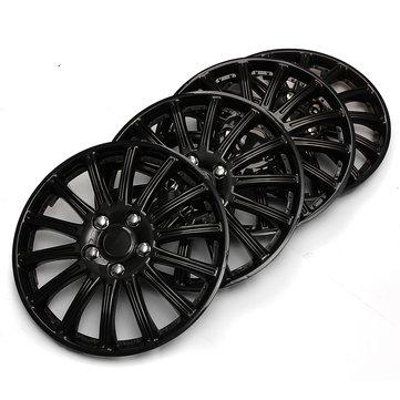 Plastic Universal Set of 14inch Black Car Sports Wheel Trims Cover Hub Caps