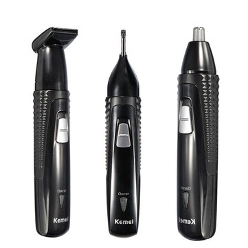 KEMEI 3 in 1 Electric Rechargeable Nose Hair Ear Trimmer Shaver Removal 1005861