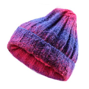 Women Ladies Beret Knitted Beanie Crochet Caps Braided Baggy All-match Stewar...