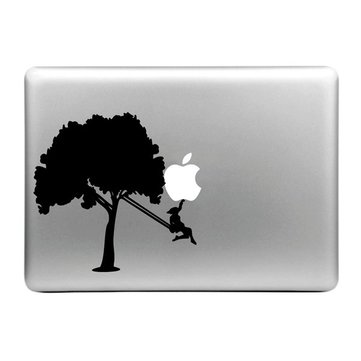 Hat-Prince Stylish Creative Swing Pattern Laptop Skin Decorative Sticker For MacBook 13.3