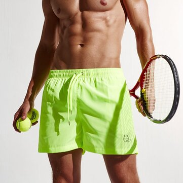 Summer Colorful Quick-drying Tennis Shorts Mens Fashion Light Weight Drawstring Sports Boxer Shorts