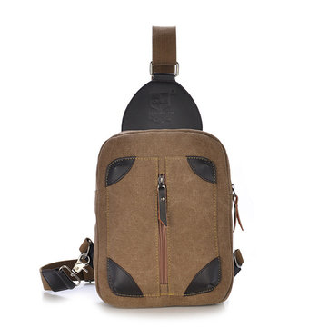 Canvas Men Retro Shoulder Bag Leisure Outdoor Sport Crossbody Bag